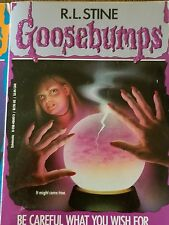 GOOSEBUMPS book R L STINE original cover series #12 BE CAREFUL WHAT YOU WISH FOR