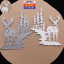 Christmas Elk Tree Metal Cutting Dies Stencil Scrapbooking Embossing Paper Craft