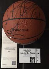 CHICAGO BULLS Official Game BASKETBALL Signed SCOTTIE PIPPEN UDA & Dennis Rodman