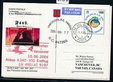 65037) LH FF München - Vancouver Canada 10.6.2004, GA ab Vatikan