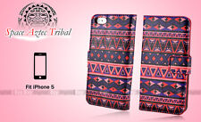 AZTEC TRIBAL Stand Wallet Leather Case Cover For Apple iPhone 5 5S 5G Gen A08
