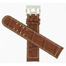 Hamilton 22mm Brown Leather Khaki Aviation/Band for ETO Watch Band H600776108