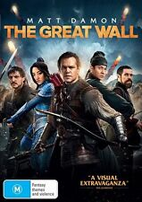 The Great Wall DVD NEW Matt Damon Zhang Yimou Region 4
