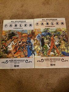 Fables Compendium Vol 1 And 2 Lot DC TPB Vertigo Black Label Read*