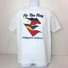 Philippine Airlines Mens T-Shirt Size Large Colorful Fly The Flag Travel Shirt
