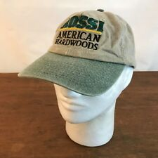Rossi American Hardwoods Tan & Green Cotton Adjustable Baseball Cap Hat CH16