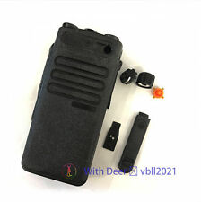 Walkie Talkie Replacement Housing Kit Front Cover for Motorola Xpr3300 black