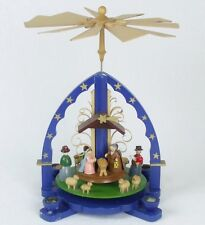 Vintage RG Erzgebirge CHRISTMAS NATIVITY PYRAMID Hand Painted Wood Germany