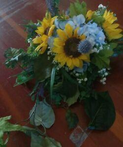 Handmade Sunflower Arrangement Centerpiece Swag Floral Décor For Sale In Stock Ebay