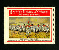 Scotland Stamps Scotland Forever NH WWII Label