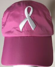 Breast Cancer Pink Ribbon Embroidered Baseball Cap Hat Support The Cure