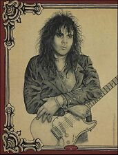 Yngwie Malmsteen Fender Stratocaster Guitar 8 x 11 illustration pinup photo
