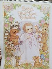Current Baby's First 1st Year Calendar Stickers Unused Vintage