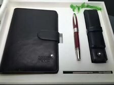 AUTHENTIC WITH BOX BUSINESS SERIES RED PLATINUM-PLATED WRITING PEN NOTEBOOK SET