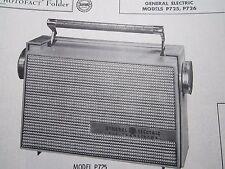 General Electric P725 & P726 Transistor Radio Photofact
