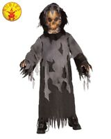 RUBIES Boys Costume Fancy Dress Halloween Book Week Ghost Skeleton 881119