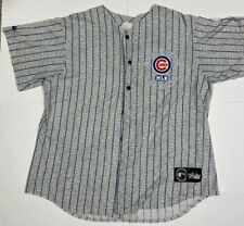 Chicago cubs jersey-style button up t-shirt, Unisex, XL