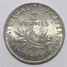 monnaie En Argent 2 Francs 1914 C France (N502)