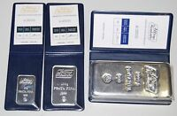 Fine Argent Bar 999 + COA 50g 100g & 1 kilo Lingot Bullion Lingot Argent Silber