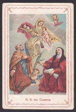 SANTINO 123 MADONNA DEL CARMINE HOLY CARD IMMAGINETTA RELIGIOSA IMAGE PIEUSE