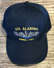 USS Alabama SSBN-731 Ball Cap Embroidered Submarine Dolphins Navy Veteran Hat