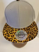 City Hunter NY 6 Panel Flat Bill Hat Cap Snap Back Leopard Taupe Never Worn