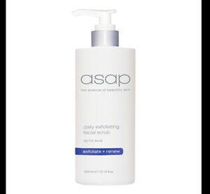 ASAP Daily Exfoliating Facial Scrub 300ml w Glycolic Acid AHAs  NonPlastic Beads