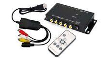 Premium 4 Canales CCTV multiplexor de vídeo con DVR USB Adaptador Para PC Mac