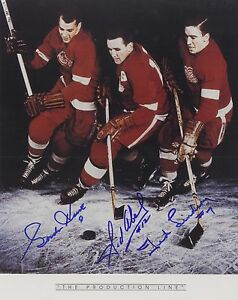 The Production Line, Red Wings - Howe, Abel & Lindsay 8 x 10