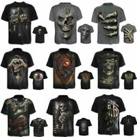 3D Gorilla Monkey Skull Funny Printed Tee Cotton Mens T-Shirt Short Sleeve Tops