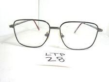 Vtg 80s IFB Sqaured Rectangangular Eyeglass Frame 0213 pewter dark brown LTP-28