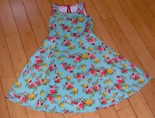 Soprano floral turquoise fit n flare skater dress sleeveless EUC 16 XL occasion