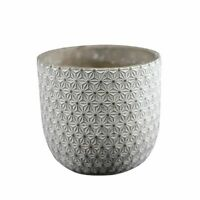 Round Vase Silicone Mold Concrete Flowerpot Mould Embossed Cement Planter Tool