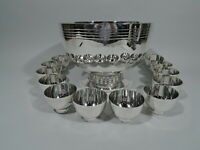 Tiffany Punch Bowl & Cups - 23540 & 23541 - Modern - American Sterling Silver