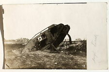 19287 photo AK probablement anglaise chars tank Mark 1. wk 1915 real photo pc
