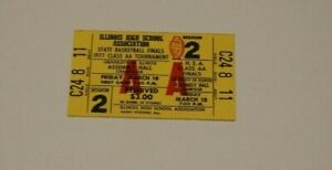 1977 ILLINOIS HIGH SCHOOL  BASKETBALL TICKET IHSA FINALS CHAMPAIGN ASSEMBLY HALL