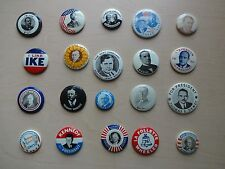 20-Old Reproduction Presidential Campaign Political Pinback Button Pins
