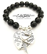 I Love You Amazing Mum Woman Bracelet With Angel Heart Charms Great Gift