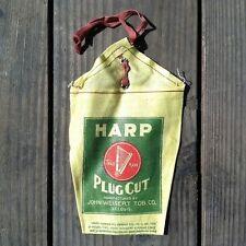 2 Vintage Original JOHN WEISERT HARP CLOTH Tobacco Bag 1920s Fabric NOS Unused