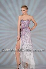 Chantik prom dress style 9001 Ivory/Multi Size 6 --Evening-prom-Military Ball
