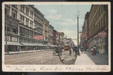 Postcard TOLEDO Ohio/OH  Summit St Adams Express & Cigar Store Signs view 1906