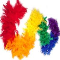 Gay Pride Rainbow Chandelle Feather Boa 6 Feet Long Pride Festival Parade Boas