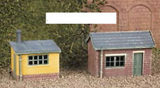 Ratio 237 - 2 x Lineside or Garden Sheds Timber/Brick Kit 'N' Gauge Plastic Kit