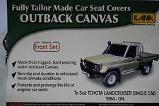 OUTBACK CANVAS SEAT COVERS TOYOTA LANDCRUISER  SINGLE CAB BUCKET BENCH
