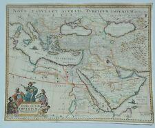 "Original Map of Turkish Empire ""TURKICUM IMPERIUM"" by Hugo Allardt in 1680"