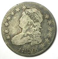 1820 Capped Bust Quarter 25C - Fine Details - Rare Early Date Coin!