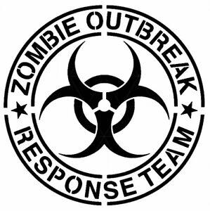 Zombie Outbreak Stencil Durable & Reusable Plastic Stencil 6x6