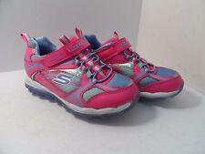 Skechers Girl's Skech Air Bungee Strap Sneaker Neon Pink/Periwinkle Size 12Y