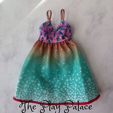 Barbie Fashionista Dress Green Brown Sparkle Leaf Full Skirt Doll Clothes FS878