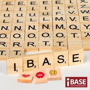 Wooden Alphabet Scrabble Tile Number Scrapbooking Handcraft Letter set Complete
